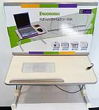 Складной столик для ноутбука с охлаждением ELaptop универсальный, Напольный столик для ноутбука из пластика, фото 7