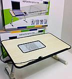 Складной столик для ноутбука с охлаждением ELaptop универсальный, Напольный столик для ноутбука из пластика, фото 8
