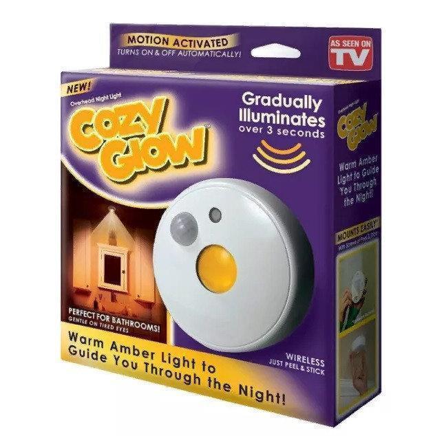 Универсальная подсветка с датчиком движения cozy glow led, Светильники светодиодная подсветка для дома