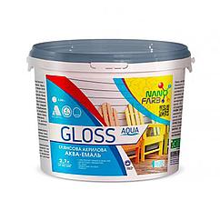 Акрилова емаль NanoFarb Gloss Aqua глянсова 2.5л