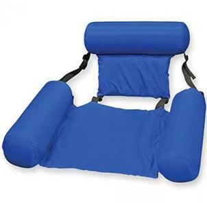 Надувной складной матрас плавающий стул, Пляжный водный гамак, надувное кресло Синий, фото 2