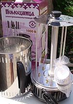 Электрошашлычница на 5 шампуров Помощница с таймером и запасной колбой и кожухом нержавейка, фото 3