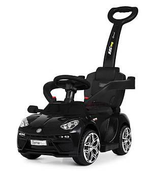 Детский электромобиль 2 в 1 каталка - толокар с родительской ручкой Bambi lamborghini черный