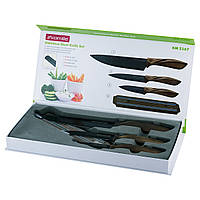 Набор кухонных ножей Kamille 4 предмета (3 ножа+магнитная полоса) KM-5167
