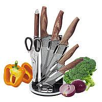 Набор кухонных ножей Kamille и ножницы на акриловой подставке 8 предметов KM-5139