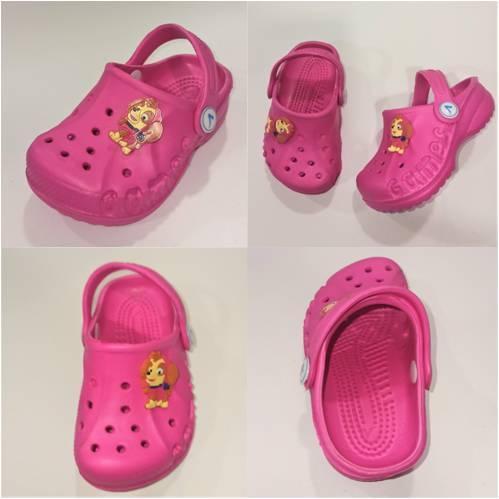 Детские розовые кроксы, фото