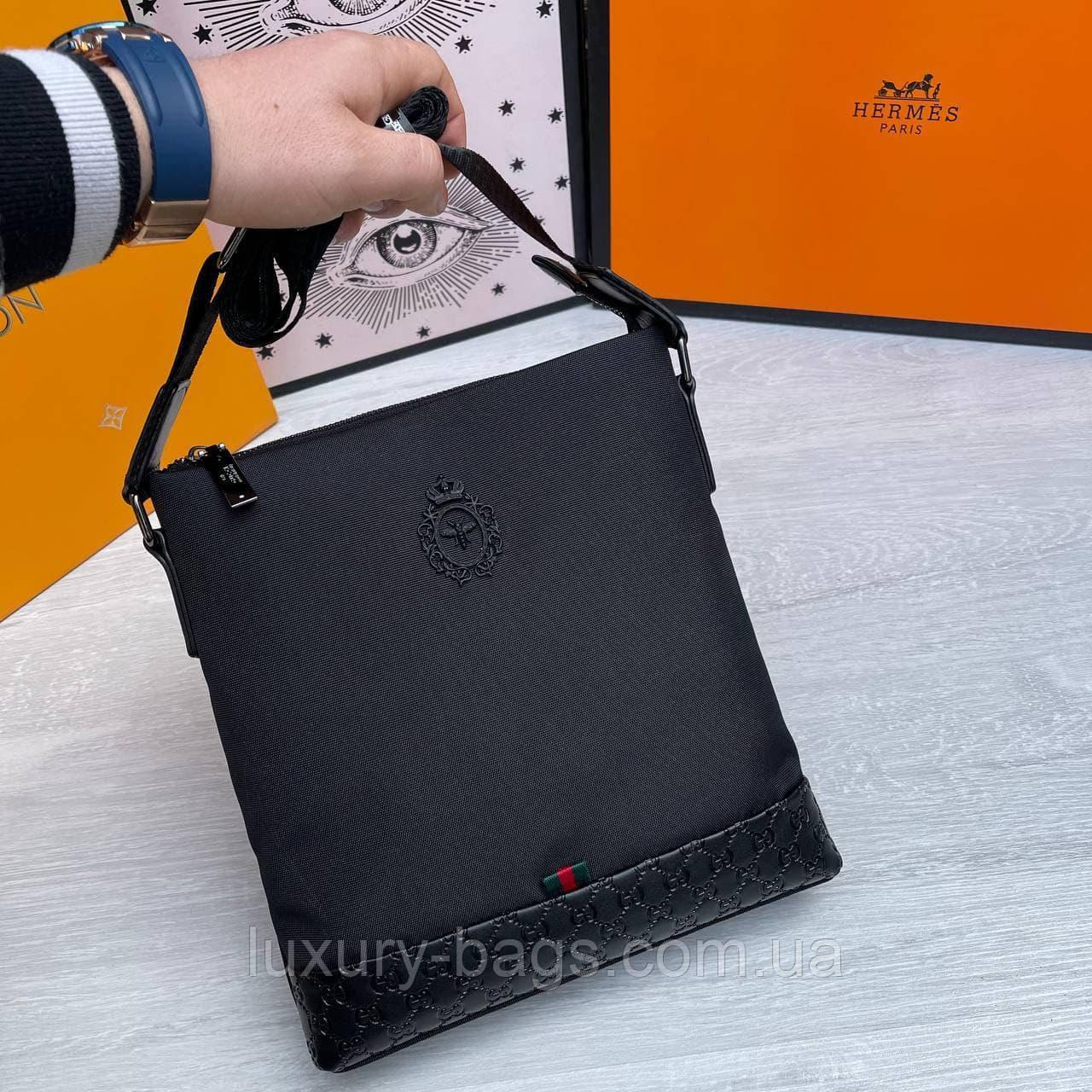 Качественная  мужская сумка через плечо Gucci