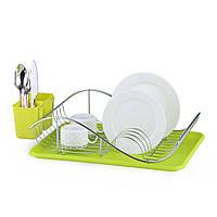 Сушилка для посуды Kamille 52х32х13см с поддоном KM-0761A