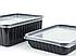 Контейнер прямоугольный для вторых блюд PP-500 Lux черный 500 мл, 500 шт/уп, фото 3