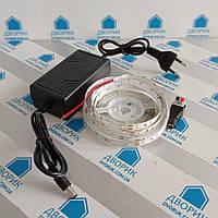 Светодиодная 60Led лента 12V 6000К 2м + коннектор + блок питания комплект освещения, фото 1