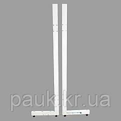 Металлическая стойка стеллажа Ристел 2100х400 мм правая, нога для стеллажа, стойка для торгового стеллажа