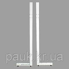 Стойка торгового стеллажа Ристел 2100х300 мм левая, нога для стеллажа Ристел, стойка для торгового стеллажа