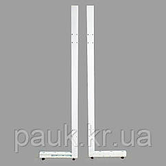Металева стійка стелажа Рістел 2100х400 мм ліва, нога для стелажа, стійка для торгового стелажа