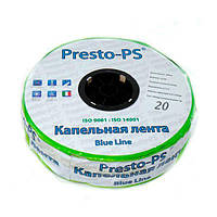Капельная лента Presto-PS щелевая Blue Line отверстия через 20 см, расход воды 2,4 л/ч, длина 500 м