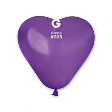 """Латексный шар сердце фиолетовый 5""""/08/16см Purple"""