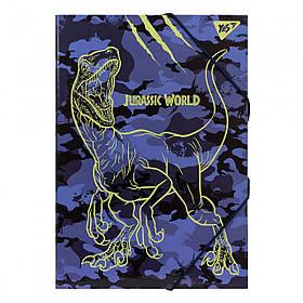 """Папка для праці YES картонна А4 """"JURASSIC WORLD"""""""