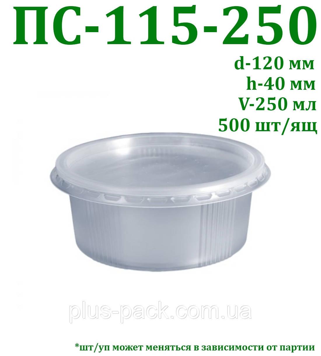 Одноразовая упаковка на 250 мл, 500шт/ящ