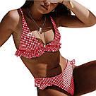 Раздельный женский купальник с рюшами, фото 3