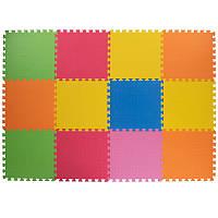 Спортивный коврик пазл SP-Planeta для упражнений Мат пазл 12 шт. 50 х 50 см Разноцветный (C-3461)
