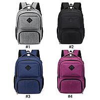 Міський молодіжний рюкзак з USB зарядкою для телефону та відділення під ноутбук сірий, фото 4