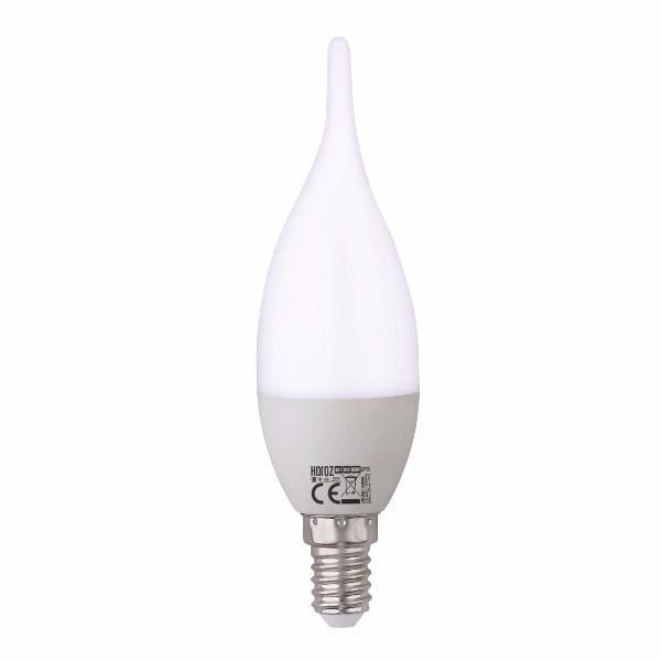 Лампа светодиодная C37 6W 3000K E14 Horoz Electric 001-004-0006-021