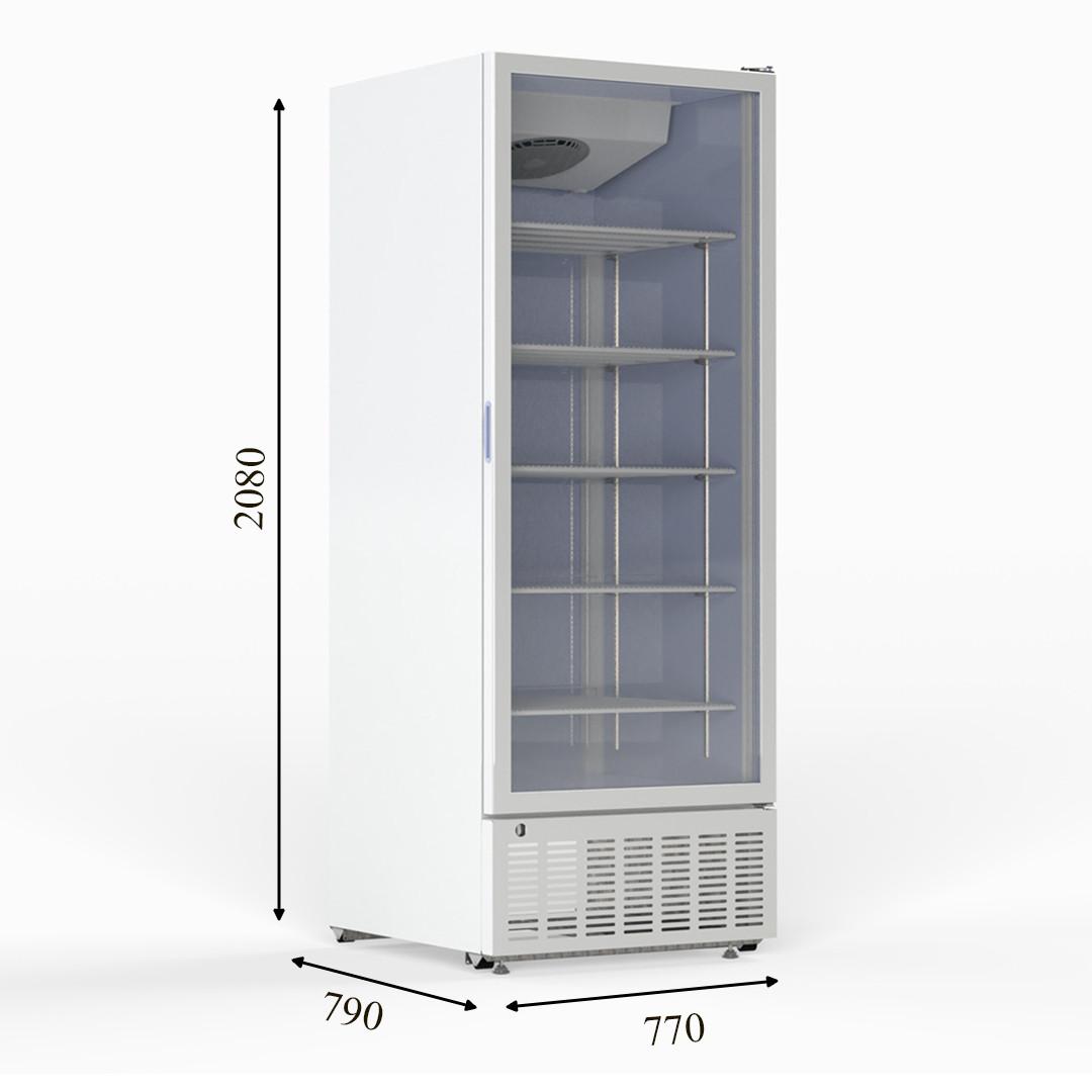 CR 800 Холодильный шкаф с одной дверью без лайтбокса CRYSTAL S.A. Греция