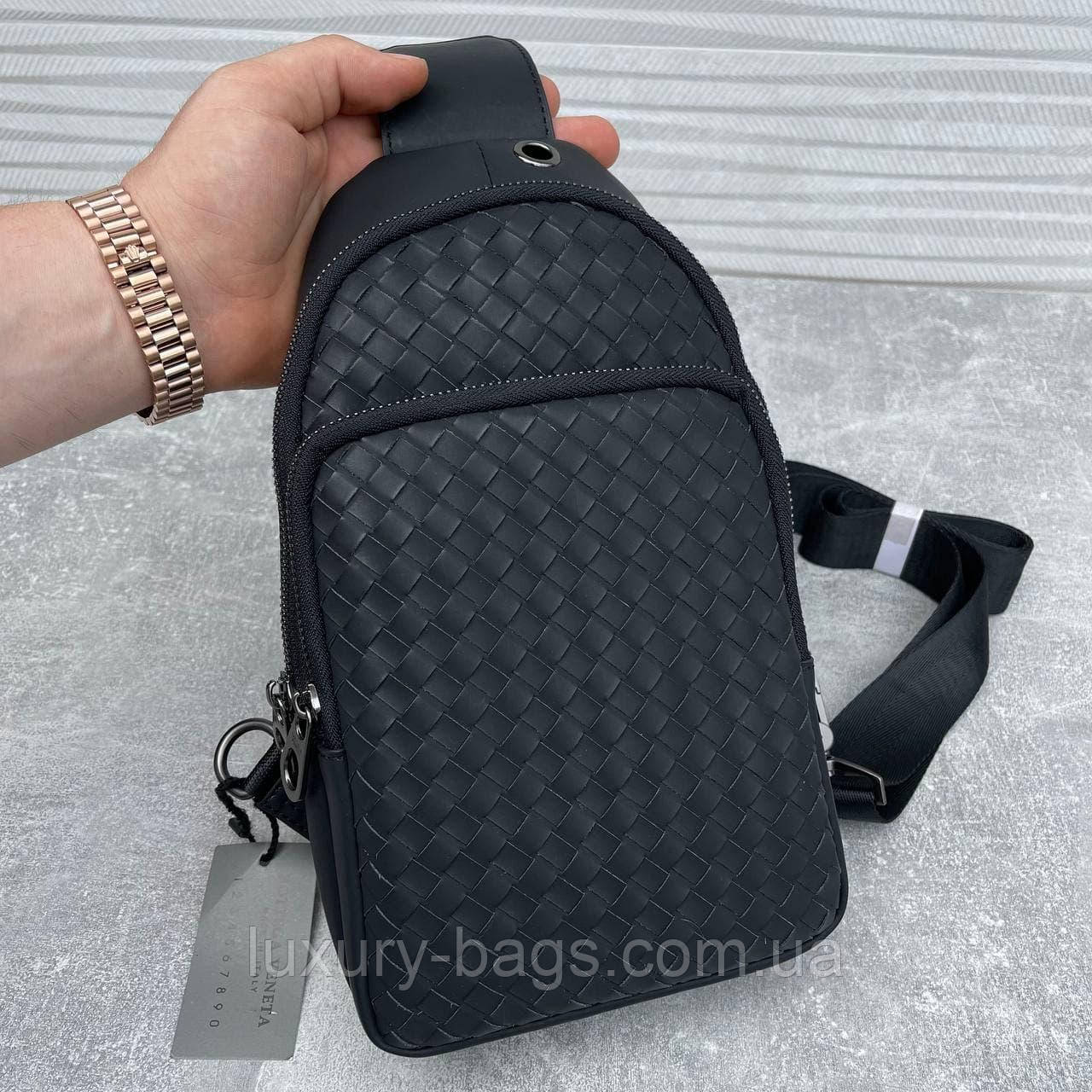 Мужская стильная сумка слинг Bottega Veneta (люкс качество)