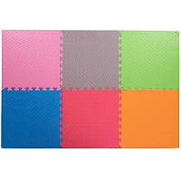 Спортивный коврик пазл SP-Planeta для упражнений Мат пазл 6 шт. 50 х 50 см Разноцветный (C-3462)
