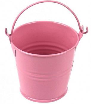 Ведерко мини 5 см розовое