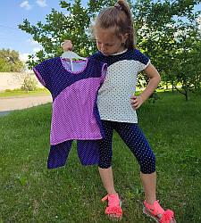 Річний комплект для дівчинки футболка та бриджі вп
