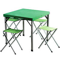 Стол складной + 4 складных стульчика КС-3814, фото 1
