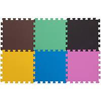 Спортивный коврик пазл SP-Planeta для упражнений Мат пазл 6 шт. 30 х 30 см Разноцветный (C-3465)