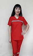 Жіночий костюм Швидкої допомоги бавовна короткий рукав