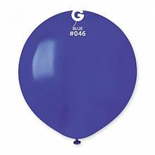 """Латексна кулька пастель синій темний 19""""/ 46 / 48см Blue"""