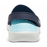 Сабо Крокси Crocs LiteRide™ Clog LiteRide Clog Navy/Almost White, фото 5