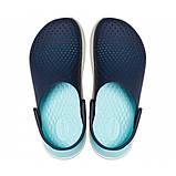 Сабо Крокси Crocs LiteRide™ Clog LiteRide Clog Navy/Almost White, фото 6