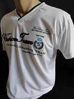 Однотонные мужские футболки с вышивкой, фото 1