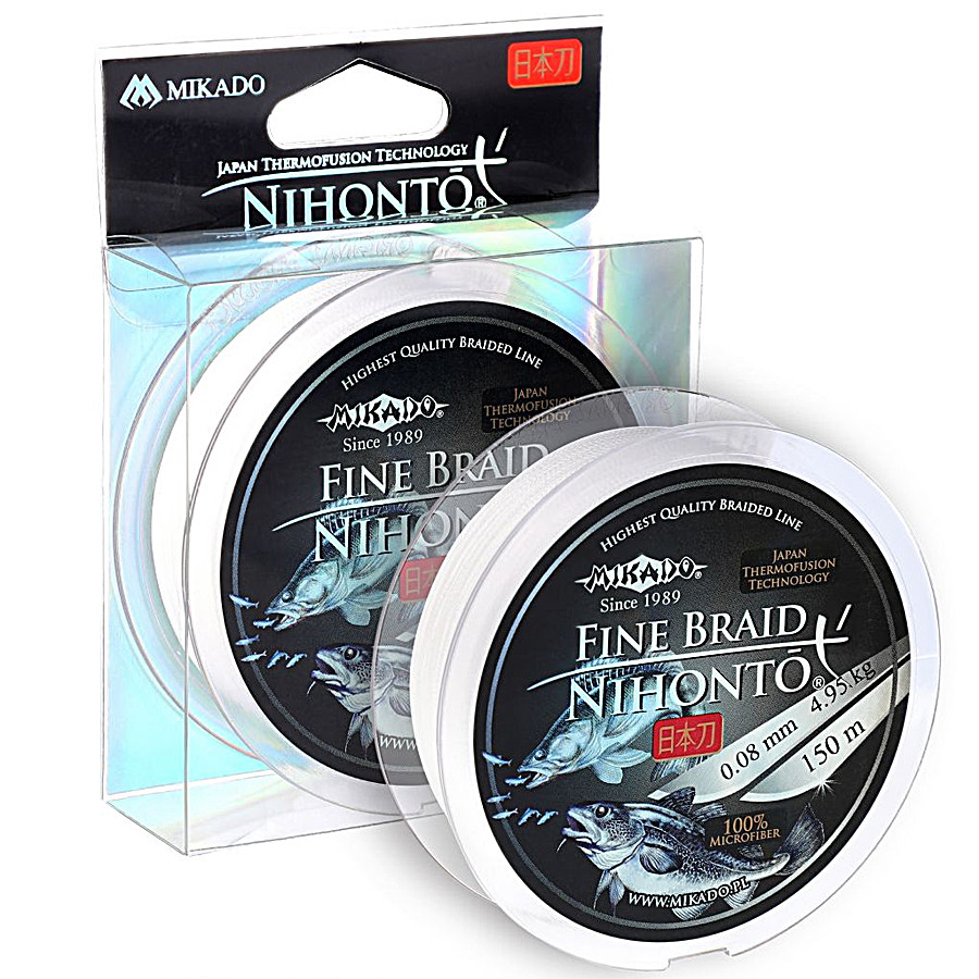 Шнур Mikado Nihonto Fine Braid 150м 0,08 мм 4,95 кг white