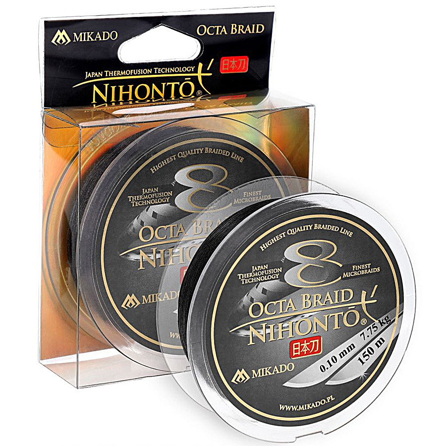 Шнур Mikado Nihonto 8 Octa Braid 150м 0,16 мм 12,90 кг black