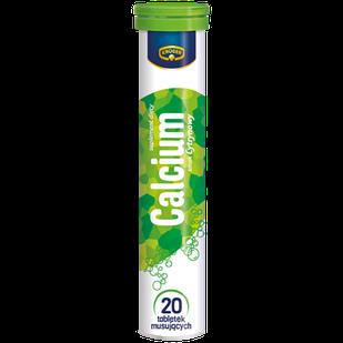 Вітаміни Кальцій Kruger Calcium шипучі в таблетках розчинні, 20шт, Польща, зі смаком лимона