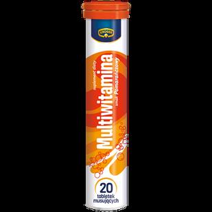 Вітаміни Мультивітамін Kruger шипучі в таблетках розчинні, 20шт, Польща, зі смаком апельсина