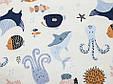 Сатин (бавовняна тканина) морський світ (65*145), фото 2