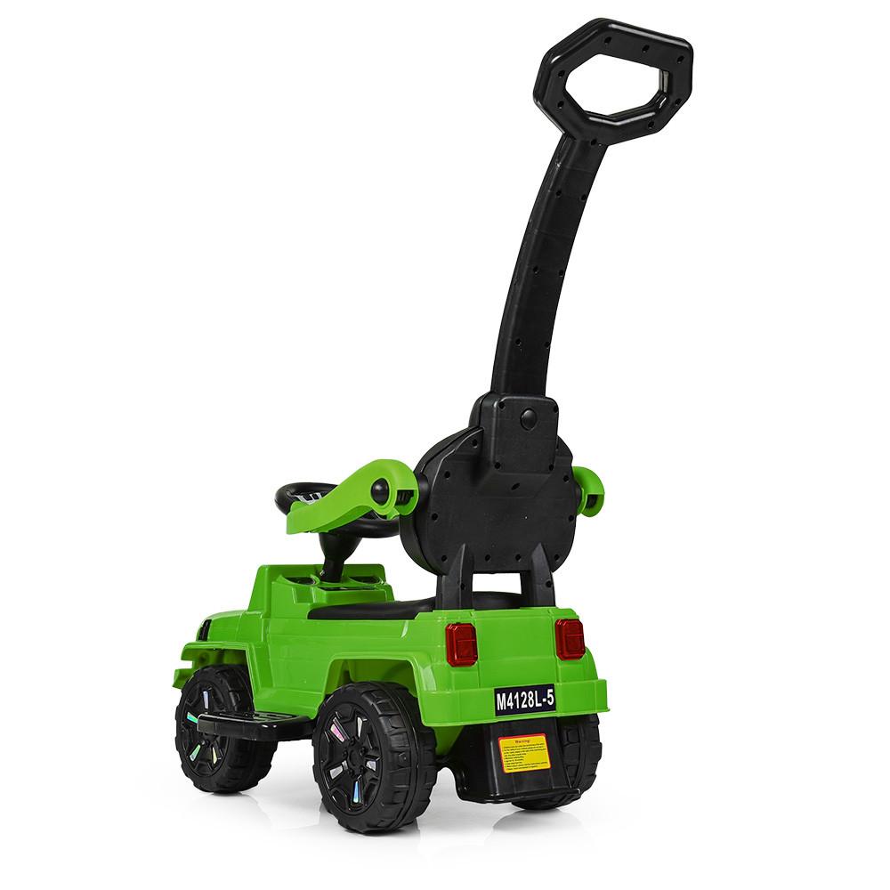 Детская машина толокар джип BAMBI M 4128L-5 зеленый