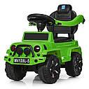 Детская машина толокар джип BAMBI M 4128L-5 зеленый, фото 3