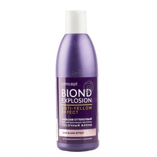 Відтіночний бальзам Ефект Пісочнийй блонд ANTI-YELLOW Concept, 300 мл