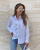 Женская рубашка летняя с длинным рукавом