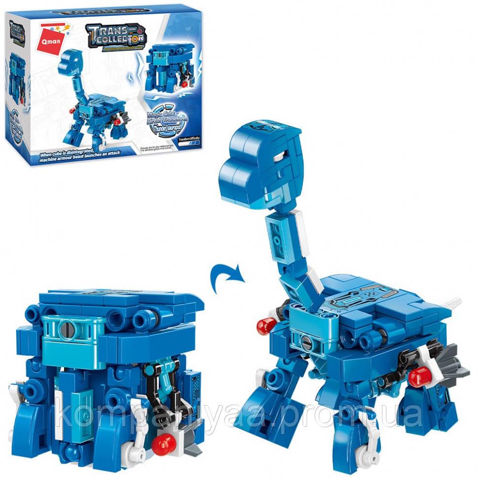 """Детский конструктор """"Динозавр+куб"""" Qman 41204 (145 деталей)"""
