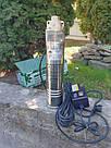 Погружной глубинный насос для скважин центробежный WISLA 4SKM-100 - 0,75кВт С КЛАПАНОМ 5 ЛЕТ ГАРАНТИИ (трос), фото 2