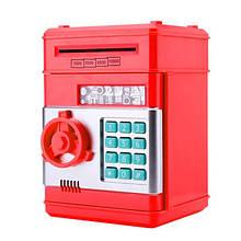 Электронная копилка-сейф 1511ST с кодовым замком  (Красный)