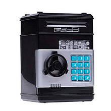 Электронная копилка-сейф 1511ST с кодовым замком  (Черный)